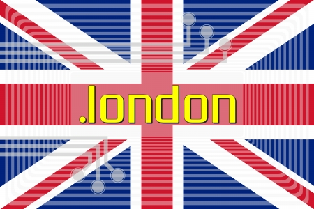 Illustration of internet address dot london domain name illustration