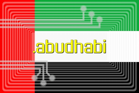 abudhabi: Illustration of internet address dot abudhabi domain name