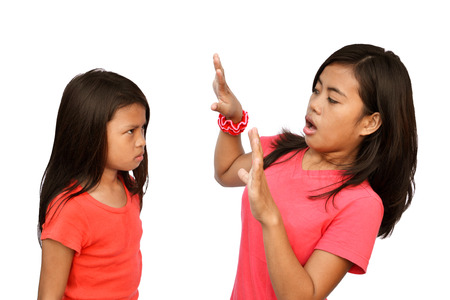 Teenager shocked by the angry reaction of her little sister