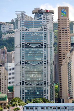 HONG KONGCHINA - MAY 25: HSBC building in downtown Hong Kong on May 25th 2014. HSBC is one of the most famous international banks around the world.