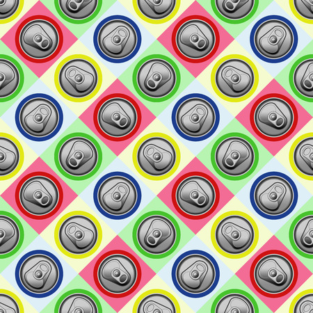 Nice colorful can tops background Stock Photo