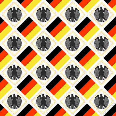 German patriotic background with flag & eagle symbol
