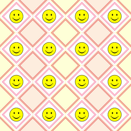 Nice smiley background with simple smiling yellow face illustration
