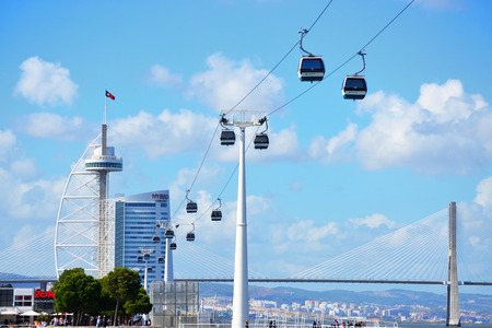 View of Expo98 city. Expo98 is one of the most famous modern touristic areas in Lisbon - Portugal