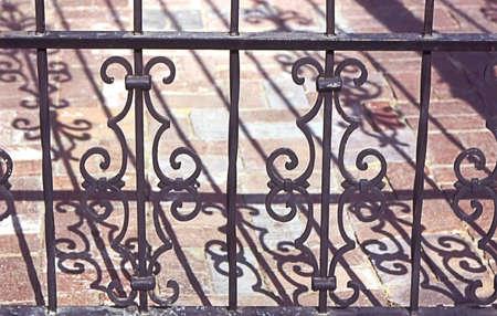 Cercas de hierro forjado Foto de archivo - 2005990