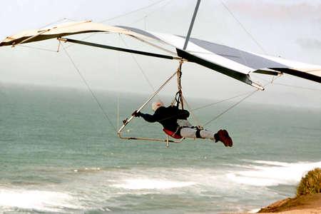 Glider over ocean Banco de Imagens