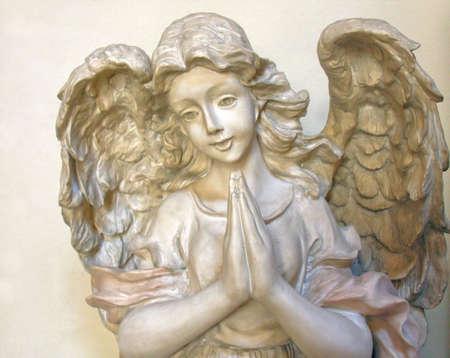 angel statue: Praying Angel