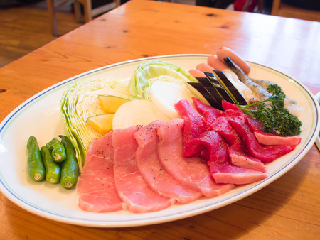hotate: Japanese food barbecue set