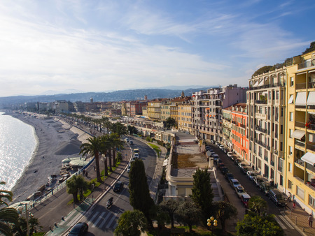 riviera: Panorama of Nice in France, French Riviera Stock Photo