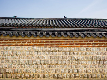 Korean Style wall with Roof decorative