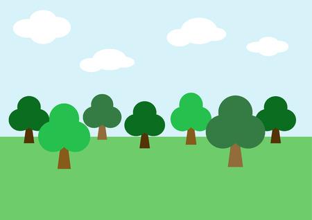 Tree, forest background vector Illustration