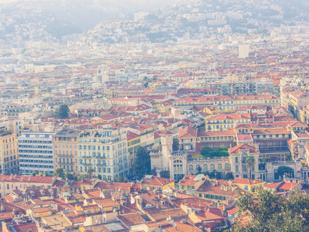 Panorama of Nice in France, French Riviera Stock Photo