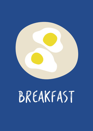 Fried egges poster vector Stock Vector - 73964450