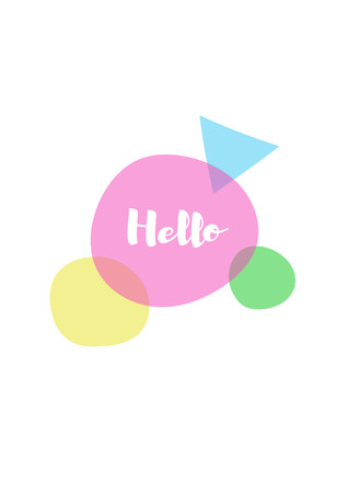 introduce: Vector of hello message text
