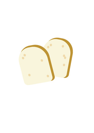 Two toasted bread slices - abstract vector illustration