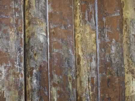 worn out red plank wall