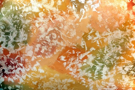dabs: Bright colour texture with dabs of paints Stock Photo