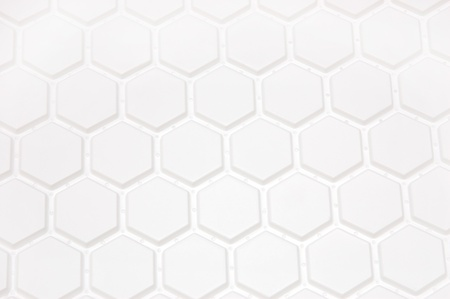 White background in the form of honeycombs Stock Photo