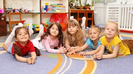 preschool: Group of children in a kindergarten