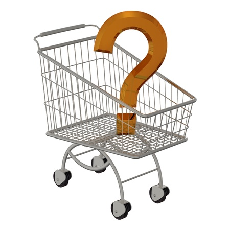 trundle: 3D gold question in shopping cart