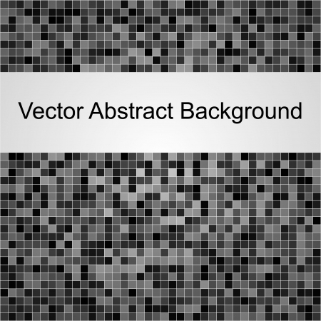 Abstract square grey vector pixel mosaic background Illustration