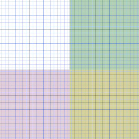 consider: Seamless vector pattern sheet of exercise book in a cell. Color backgrounds for sample.