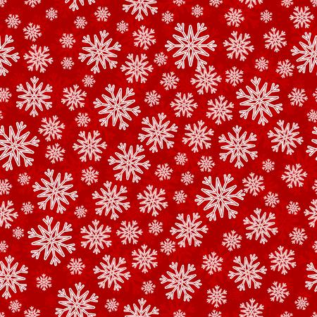 substrate: Navidad sin patr�n con copos de nieve rojos y blancos sustrato capa sobre rojo