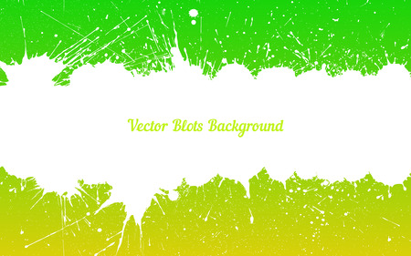 other space: Vector bright white ink splashes with space for text over green yellow. Element for your designs, projects, promotional sales and other your projects. Just add your text