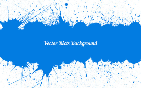 other space: Vector blue ink splashes with space for text over white. Element for your designs, projects, promotional sales and other your projects. Just add your text Illustration