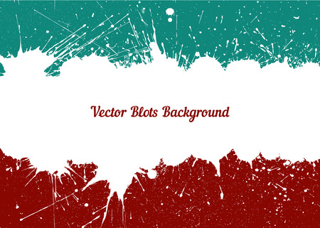 other space: Vector white ink splashes with space for text over retro colors. Element for your designs, projects, promotional sales and other your projects. Just add your text