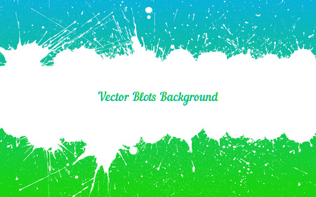 other space: Vector white ink splashes with space for text over blue green. Element for your designs, projects, promotional sales and other your projects. Just add your text Illustration