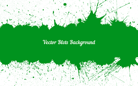 green ink: Vector green ink splashes with space for text over white. Element for your designs, projects, promotional sales and other your projects. Just add your text Illustration