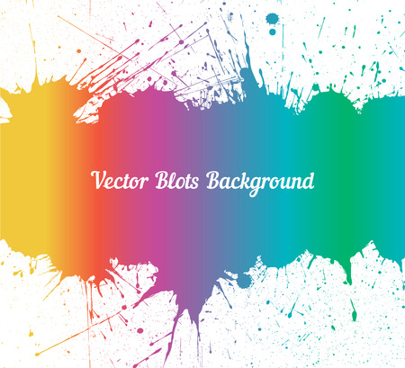 other space: Vector spectrum ink splashes with space for text over white. Element for your designs, projects, promotional sales and other your projects. Just add your text Illustration