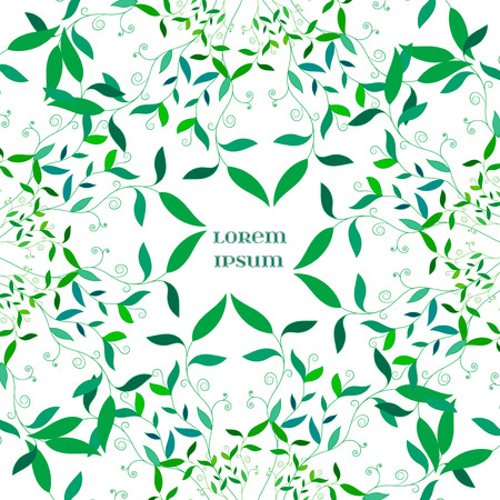 swill: Vector Abstract Floral  Green Background. Element for your designs, web, banner, and other projects.
