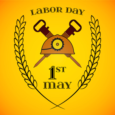 may day may 1st labor day background with mine lantern and