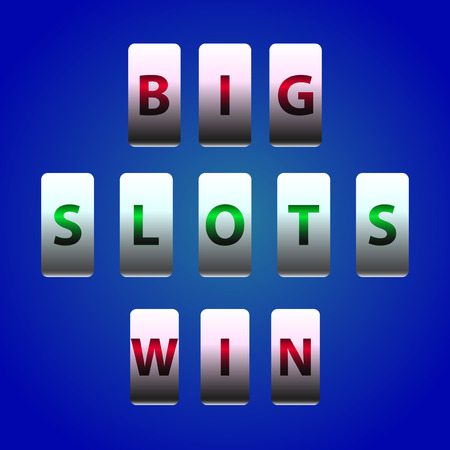 over the counter: Vector Counter Big Win Slots. Element for casino, game and other projects. Big Win Icon over blue background