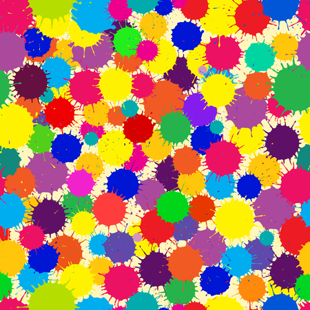 color swatches: Vector Color Ink Blots Seamless Background. Seamless pattern for your design, invitation card, holiday and other wrapped projects. Pattern in swatches panel.