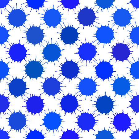 Blue Ink Blots Seamless Background. Seamless pattern for your design, invitation card, holiday and other wrapped projects. Pattern in swatches panel.