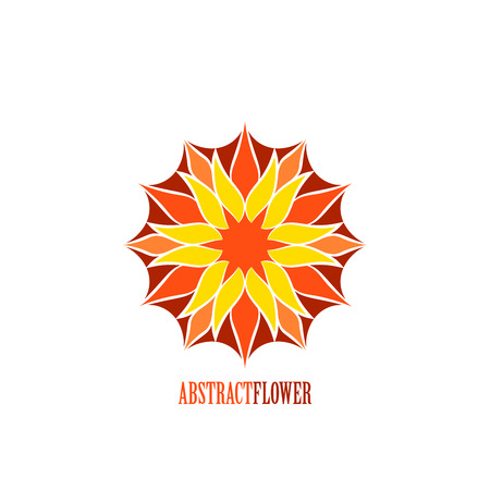 Abstract Color Flower Mandala Icon isolated over white background. Invitation element. Tattoo, astrology, alchemy, boho, and magic symbol for your projects. Easy use and recolor. Illustration