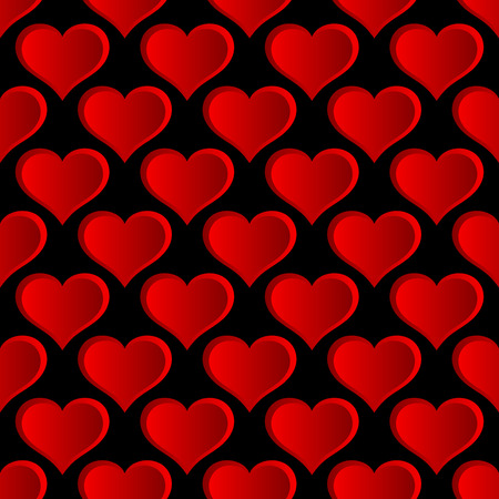 Vector Red Hearts Seamless Pattern. Background for your wedding designs, valentines day projects and other.