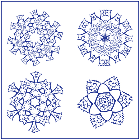 Vector Set of Sacred Geometry Symbols. Elements for abstract, mystical, religious projects. Vettoriali