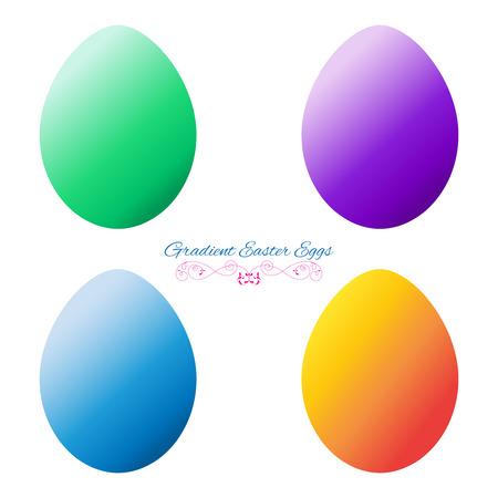 Gradient Easter Eggs. Vector Set.