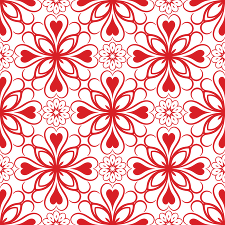 Abstract Vector Seamless Red Geometry Pattern for Background. Pattern for your design, invitation card, meditation, astrology, fabric and other wrapped projects is in swatches panel. Illustration