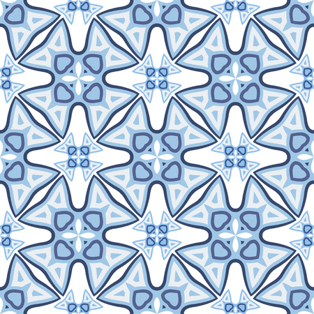 Abstract Vector Seamless Blue Geometry Pattern for Background. Pattern for your design, invitation card, meditation, astrology, fabric and other wrapped projects is in swatches panel.