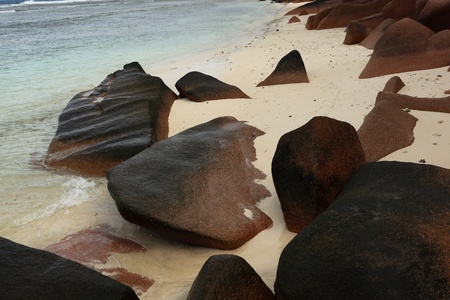 wild beach of Seychelles photo