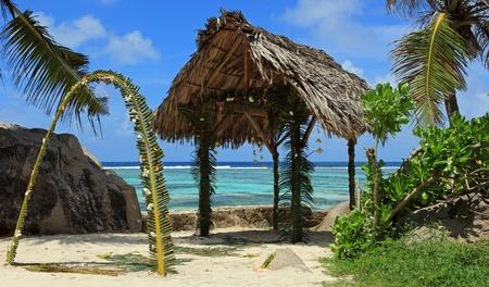 seychelles beach wedding Stock Photo