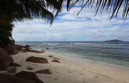 d argent: beach of seychelles