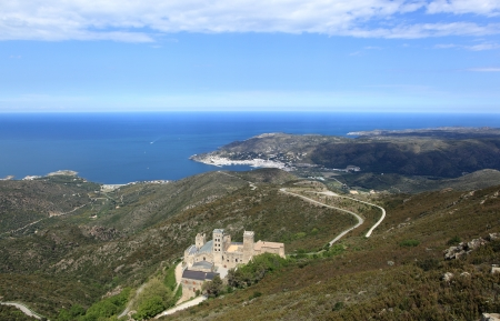 monastery Sant Pere de Rodes and coast of catalonia