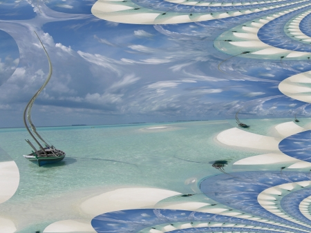 landscape fractal photo
