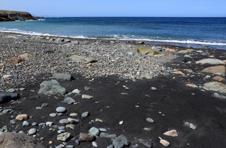 wild canary: black sand of beach Cofete